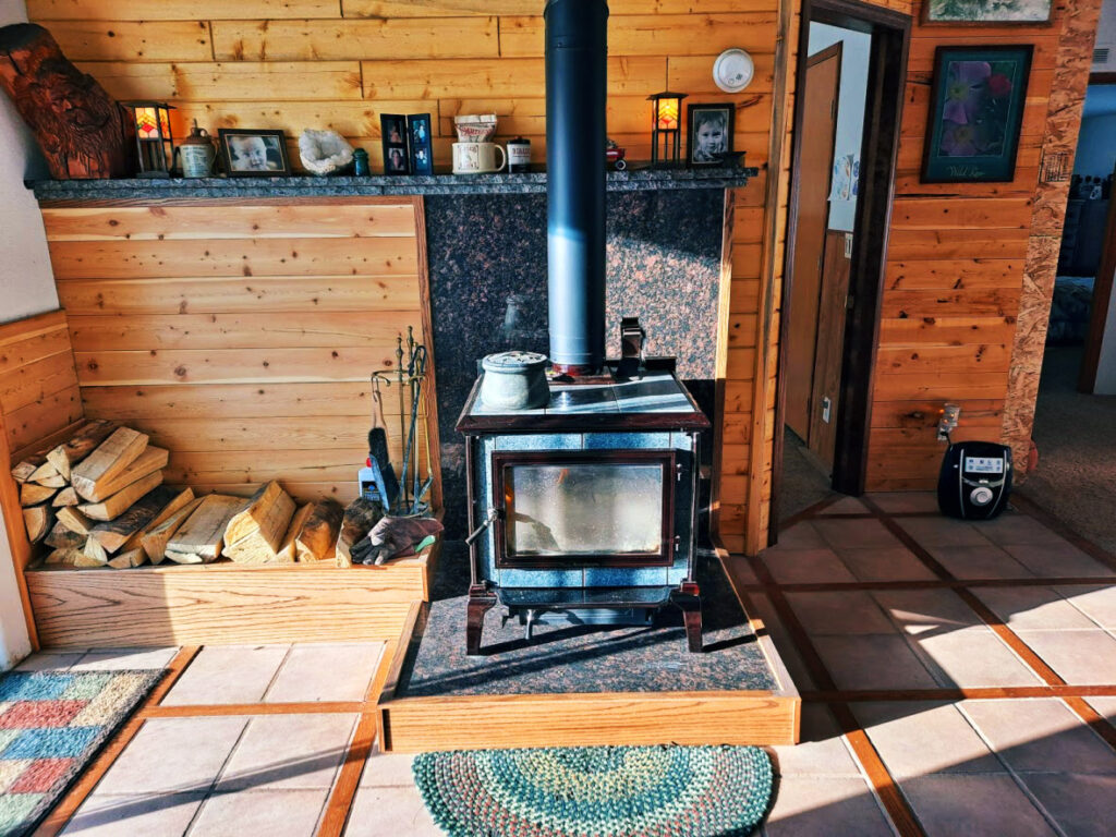 Hearthstone wood heating stove in a home